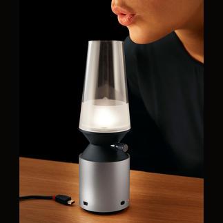 Blowing Light Cool: das LED-Windlicht zum Aus- und wieder Anpusten (statt Schalten).