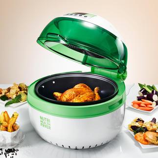 Health Fryer XL Fett- und kalorienarm Frittieren, Backen, Braten, Sautieren, Garen und Grillen – sogar am Spiess.