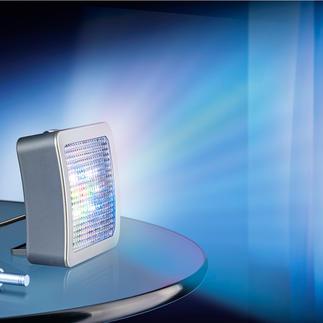 TV-Simulator Safe@Home 2.0 Jetzt noch besser: Mit extrahellen LEDs und 4 (statt 3) verschiedenen Lichtmodi. Und Nachtlicht. Und verstellbarem Standfuss ...