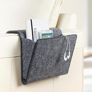 Sofa- und Betttasche Mit dieser Filztasche werden Ihre Mussestunden erst richtig komfortabel.