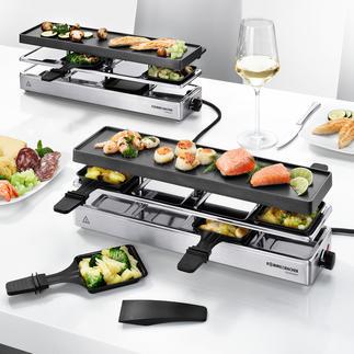 Kombi-Raclette Endlich ein Raclette-Grill auch für grosse Runden mit bis zu 12 Personen.