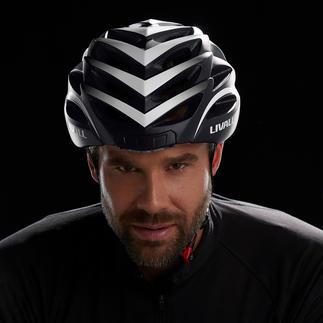 Smart-Fahrradhelm Der Velohelm neuester Generation: Noch sicherer durch Rücklicht, Blinker, Warnlicht und SOS-Funktion.