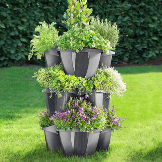 Etagen-Pflanzturm, 3 Elemente Opulente Blumenpracht auf kleinem Raum. Prächtiger Pflanzturm. Oder einzelnes Pflanzrondell.
