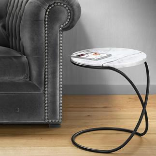 Marmortisch Infinity Trendige Marmorplatte. Vielseitiger Beistelltisch – elegant wie eine Skulptur.