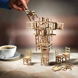 Stacking Chair Game Entdecken Sie Ihr Talent als Baumeister oder Konstrukteur kühner Skulpturen. Lust zu Experimentieren?