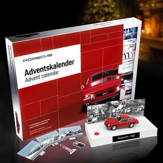 Adventskalender Bausatz Porsche 911 Bringt Sie in 24 Schritten Ihrem Traumauto nahe. Als Modell im Massstab 1:43. Offiziell lizenziert.