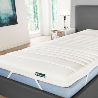 Federkern-Matratzenauflage Der Komfort eines elastischen Taschenfederkerns – jetzt als Matratzen schonende Auflage.