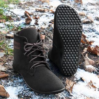 Barfuss-leguano® Schnür-Boots Gesund und entspannend wie Barfusslaufen – jetzt winterwarm und city-chic.