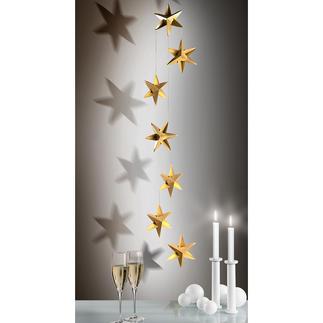 Mobile Sternentanz Schön, schlicht, zeitlos elegant: das Mobile mit Sternen aus plastisch gefaltetem Feinkarton. In jeder Grösse anmutig leicht.