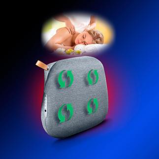 Relax Back Design-Massagekissen Das Hightech-Massagekissen in skandinavischem Design. Mit 8 rotierenden Massageköpfen und Infrarot-Wärme.