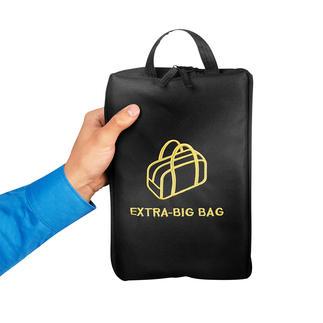 Faltbare XL-Tasche Erst ultraschmal – dann riesiger Stauraum: 69(!) Liter Zusatz-Volumen mit einem Griff zur Hand.
