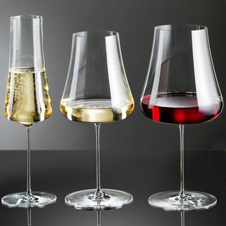 Weingläser Stem Zero, 2er-Set Wunderbar zart und elegant. Dennoch extrem bruchfest. Und schadlos in der Spülmaschine zu reinigen.