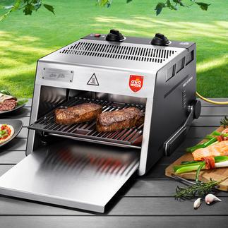 O.F.B. Hochtemperatur-Grill Der 800 °C-Steakgrill mit extra grosser Grillfläche. Für drinnen und draussen.