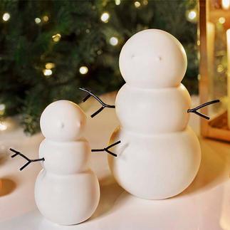 Schneemänner, 2er-Set Hochaktuell in der neuen, zurückgenommenen Formensprache. Perfekt für Winter- und Weihnachtszeit.