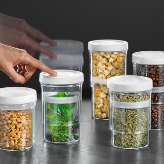 Vorratsdosen Multi-Size, 5er-Set Schliessen luftdicht und passen sich dem Inhalt variabel an.