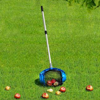 UPP® Rollsammler Für Fallobst, Nüsse, Kastanien, Golf- und Tennisbälle. Sparen anstrengendes Bücken, Aufwand und Zeit.