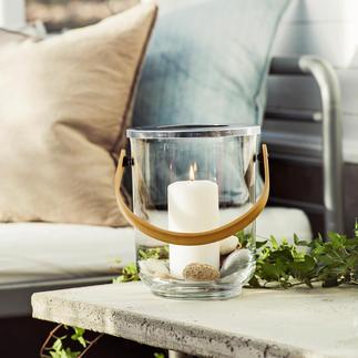 3-in-1 Windlicht Edles Glasdesign – drei Funktionen: Windlicht, Vase und Weinkühler.