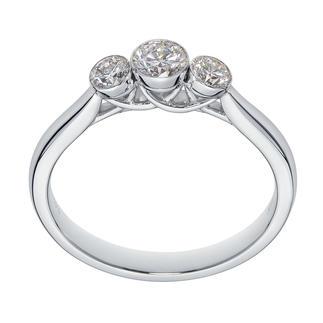 Schwebende Diamanten Kostbare Brillanten – schwebend zart in Weissgold gefasst.