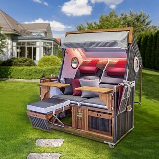 Korbwerk Luxus-Strandkorb Luxuriöse Wohlfühl-Insel für zwei. Und für Jahrzehnte. Der Premium-Strandkorb mit Wellness-Ausstattung.
