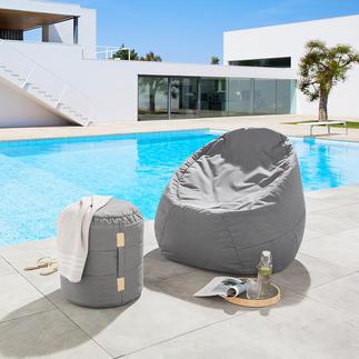 Lounge-Rundhocker oder -Sitzsack Viel bequemer (und schöner): der Sitzsack mit dem Komfort eines Lounge-Möbels.