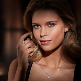 Diamantring, -Ohrstecker oder -Kette Illusion-Setting Prachtvolle, echte Diamanten. Funkelnd wie ein 1-Karäter – zum Bruchteil des Preises.