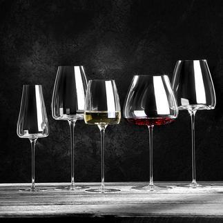 Weingläser Vision, 2er-Set Jung oder gereift, kraftvoll oder leicht, weiss, rot oder perlend, ...: Mit diesen 5 Design-Gläsern haben Sie für jeden Weincharakter das optimale Glas zur Hand.