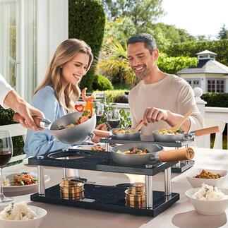 Design-Tischwok Design-Kochsystem und Lifestyle-Produkt zugleich: modern, unkompliziert, mobil.