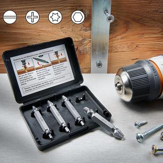 Schrauben-Entferner-Set Defekte und abgenutzte Schrauben ausdrehen – schnell und einfach wie nie.