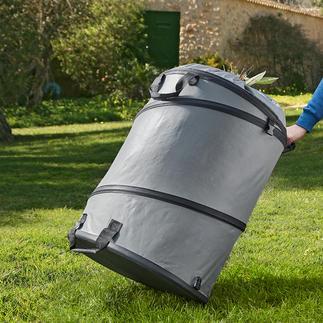 Gartenabfallsack Mit festem Boden und Popup-Funktion. Standfest, extra stabil und langlebig.