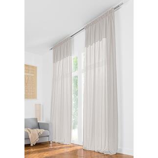 Vorhang Teide Soft  - 1 Stück Leinen-Look in aussergewöhnlicher Leichtigkeit. Und ganze 3,25 Meter lang.