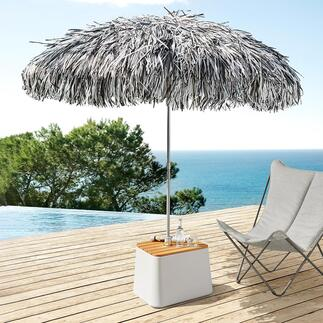 Fransenschirm Spektakulärer Blickfang im Garten, auf der Terasse, am Pool, ...   Bitte beachten Sie: Im Lieferumfang enthalten ist nur der gezeigte Fransenschirm. Dargestelltes Zubehör kann separat bestellt werden.