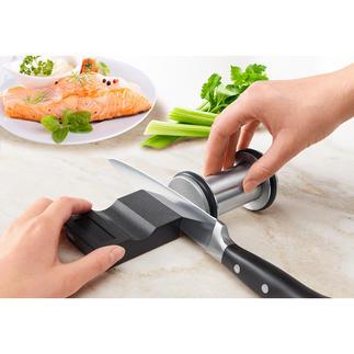 Diamant-Messerschleifer,2-teilig Messerschärfen ohne Übung: fachmännisch, sicher und schnell. Von Johann Lafer empfohlen.
