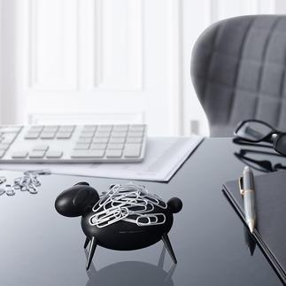 Büroklammer-Schaf Blickfang auf Ihrem Schreibtisch: Schaf Blacky zieht Büroklammern magnetisch an.