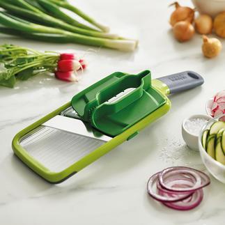 Joseph Joseph Multi-Grip-Mandoline™ Sicherer hobeln: Dank Multi-Griff für Gemüse und Obst fast jeder Grösse.