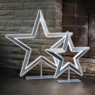 LED-Stern Der Leuchtstern de luxe:  Beidseitige LED-Bänder erzeugen einen eindrucksvollen 3-D-Leuchteffekt. Von Villeroy & Boch.