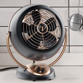 VornadoAlchemy Die legendäre Windmaschine aus den USA. Der kraftvolle Ventilator im Metallgehäuse durchströmt den ganzen Raum mit angenehmer Brise.