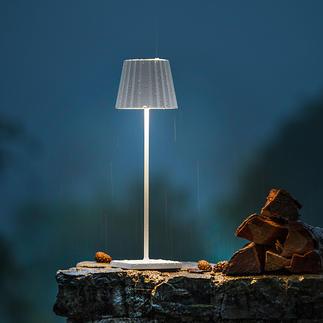 Design Akku-Tischleuchte Wiederaufladbar und dimmbar. 23 LEDs zaubern schönste Lichtstimmung, blendfrei nach oben und unten gerichtet.
