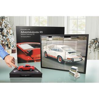 Porsche-Adventskalender 911CarreraRS2.7 Tägliche Freude: der Adventskalender mit Bausatz des legendären Porsche 911 Carrera RS. Als Modell im Massstab 1:24.