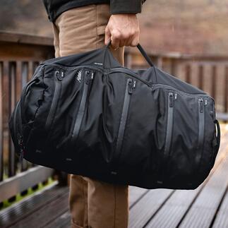 System-Reisetasche Das Beste aus Dufflebag, Rucksack und Packwürfeln vereint in einer Reisetasche.