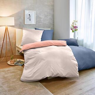 Sommer-Bettwäsche 20 % leichter als die meisten. Hochfein glatt und weich vorgewaschen, mit angesagt matter Optik.