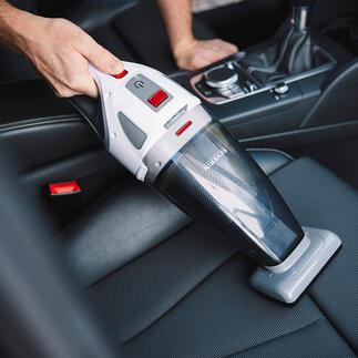 S'Power®Akku-HandsaugerHV7146 Saugt nass und trocken. Inklusive rotierender Turbo-Bürste besonders für Polster und Autositze.