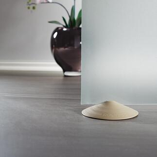 Türstopper Doornado, 2er-Set Der eine Türstopper für alle Böden. Hält auf Parkett, Laminat, Fliesen, 'Teppich, Stein, Beton, ... – ohne Bohren, Schrauben oder Kleben.