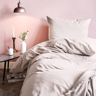 Baumwoll-Hanf-Bettwäsche, 160 x 210 cm Seidenweich, temperaturausgleichend und robust: Ganzjahres-Bettwäsche mit der Traumfaser Hanf.