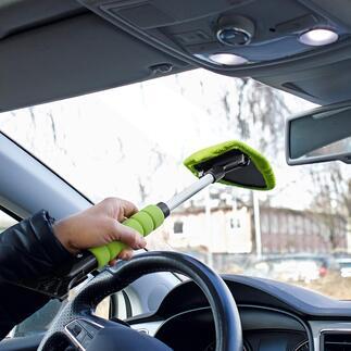 Kombi-Scheibenreiniger/Eiskratzer, 2er-Set Saubere Autoscheiben und freie Sicht – schnell, einfach und ohne Verrenkungen. Scheibenreiniger und Eiskratzer in einem. Für innen und aussen. Mit Teleskopstiel.