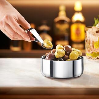 Design-Snackschale mit Löffel Glanzstück auf Ihrer Bar, bei Party, Brunch und Apèro,... Von ZONEDenmark.