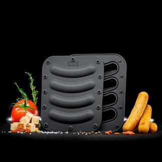 Silikon-Würstchenform, 2er-Set Hausgemachte vegetarische und vegane Würstchen nach eigenen Rezepturen – einfach wie nie.