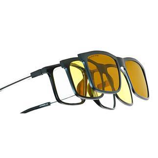 Eagle Eyes® 3-in-1-Brillensystem Mit einem Klick: Sonnen-, Nachtsicht- oder Computerbrille. Von Eagle Eyes®, USA.