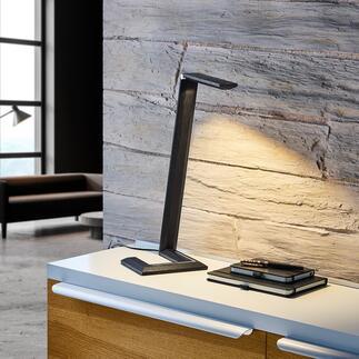 Design-Tischleuchte aus Holz Minimalistisches Design verbindet modernste Technik mit Handwerkskunst und edlem Naturholz.