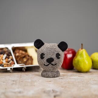 Früchte-Buddy Wollweicher Strick transportiert Ihr Pausenobst gegen Stösse und Druck geschützt und bewahrt Ihre Taschen vor Flecken.