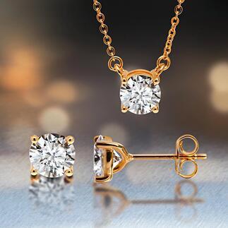 MoissaniteOhrstecker oder Anhänger mit Gliederkette Funkelnd wie kostbare Diamanten. Absolut nachhaltig und ethisch unbelastet. Die perfekte Synthese aus Labor und Natur.